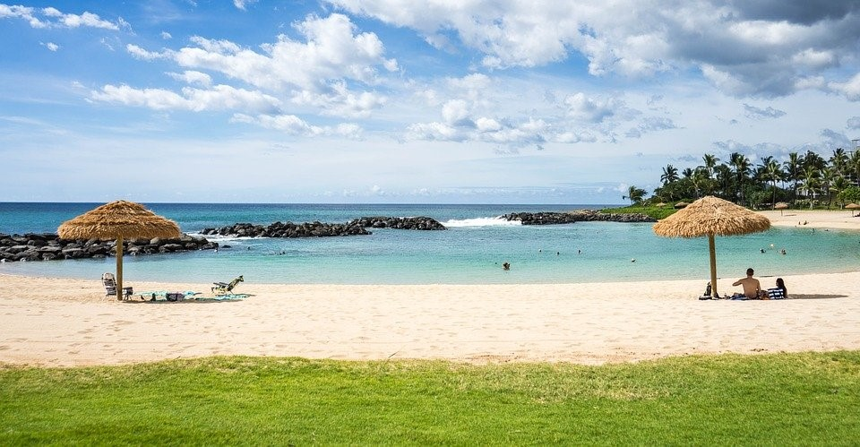 Hawaii, Plage, Ko Olina Resort, Marriott, Plage Hawaï
